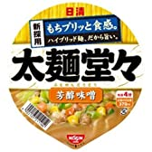 日清 太麺堂々 芳醇味噌 108g×12個