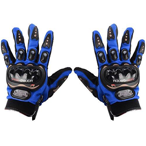 """GUANTES TALLA """"L"""" para MOTO con PROTECCIÓN BARATOS MOTOCROSS MOTOCICLETA QUAD ENDURO (Azul)"""