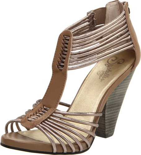 Seychelles Women's Time Will Tell T-Strap Sandal,Taupe/Pewter,8.5 M US