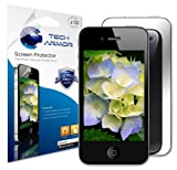 Tech Armor Apple iPhone 4 / 4S Premium Mirror Screen Protector with Lifetime Replacement Warranty [3-Pack] - Retail Packaging