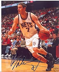 Bastian Nachbar New Jersey Nets Signed 8x10 Photo W COA by Hollywood Collectibles
