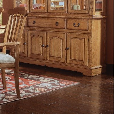 Cheap Thresher's Too Large Buffet in Distressed Antique Oak (85-662)