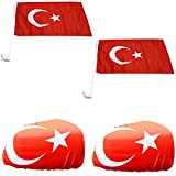 Sonia Originelli Auto Fanpaket Fahne Bikini Öhrchen Car Flaggen Türkei Turkey TUR-SET-3-XL
