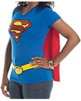 Rock Robot Women's Bioworld Dc Comics Supergirl Cape T-Shirt
