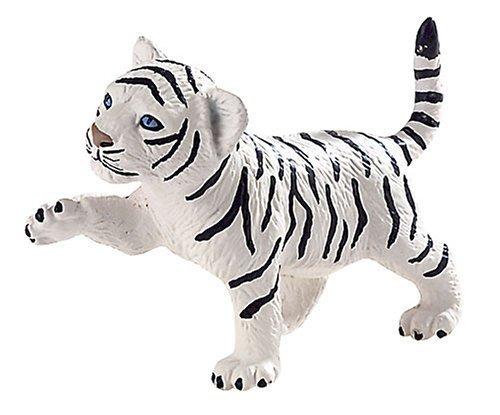 """WILDTIERE Kunststoff Figuren-Reihe """"weißes TIGER Junges"""" – White Tiger Baby, ca. 7,5cm günstig als Geschenk kaufen"""