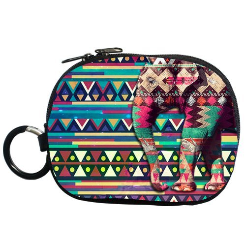 Generic Personalized Generic Personalized Colorful Aztec Alpaca Elephant Pattern For Zippered Throw Pillowcase 18X18 Inches (One Sides)For Coin Purse (Two Side) front-837036
