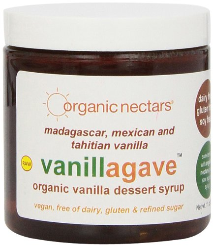 Organic Nectars Organic Madagascar Tahitian And Mexican Vanilla Vanillagave, Vanilla Dessert Syrup, 11-Ounce Jars (Pack Of 3)