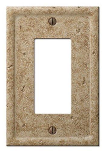 Amerelle Amertac 8351RNC 1 Rocker GFCI Texture Stone Noce Wallplate
