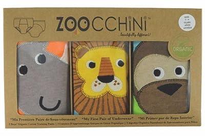 Zoocchini, 100% Organic Cotton Training Pants (set of 3) Boys (2/3years) by Zoocchini