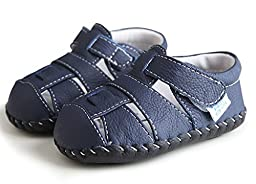 Baby sandals,Ctshow Baby First Walkers Soft Sole Leather Handmade shoes Toddler Shoes blue