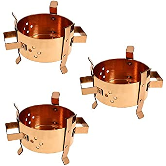 Traditional indian copper food warmer tabletop for Angeethi authentic indian cuisine
