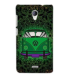Indian Auto Van Fashion 3D Hard Polycarbonate Designer Back Case Cover for Micromax Canvas Unite 2 A106