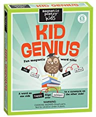 Magnetic Poetry – Kid Genius Kit – Words for Refrigerator – Write Poems and Letters on the Fridge