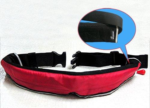 インフレータブルライフジャケット☆ベルトタイプ 手動膨張式 9色から選択可 (レッド)