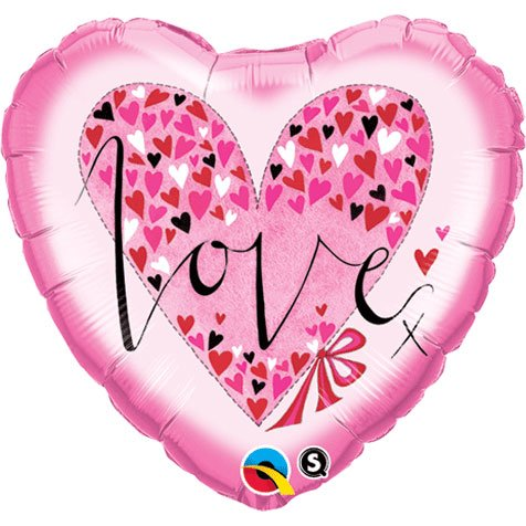 Std Love Little Hearts Balloon 5 pack