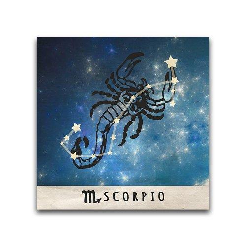 16x16-Scorpio-Zodiac-Constellation-Printed-Metal