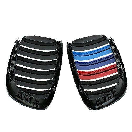 KKMOON Ein paar Auto matt schwarz M-Farbe Kühlergrill Gitter für BMW E92 2006-2009