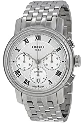 Tissot Bridgeport Automatic Chronograph Silver Dial Stainless Steel Mens Watch T097.427.11.033.00