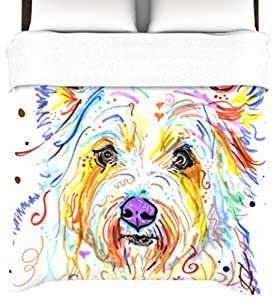 Kess InHouse Rebecca Fischer Bella 88 by 88-Inch Duvet Cover, Queen