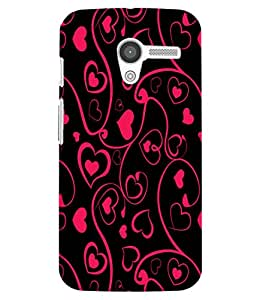 Back Cover for Moto X (1st Gen) Abstract love art
