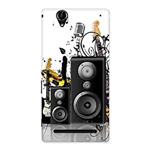 Music Comp Multicolor Back Case Cover for Sony Xperia T2