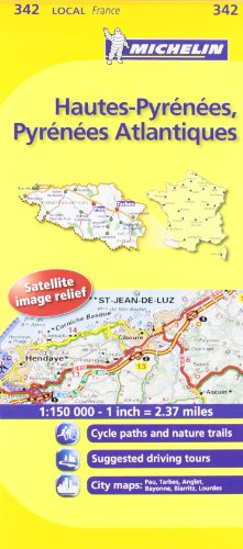 Michelin Map France: Hautes-Pyrnes, Pyrnes Atlantiques 342 (Maps/Local (Michelin)) (English and French Edition)