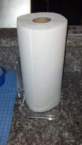 acrylic standing paper towel holder clear paper towel holder. Black Bedroom Furniture Sets. Home Design Ideas