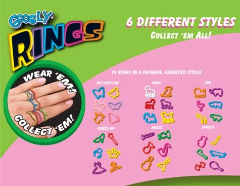 Googly RINGS Shaped Rubber Bands 24 Pieces - Musical Instrument