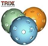 TRIX Unihockey / Floorball Ball 3er Pack MATCHBALL COLOR MIX
