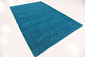 A2Z RUG SOFT SUPER THICK SHAGGY RUGS Blue 133X133 CM - 4.4X4.4 FT ROUND AVAILABLE IN 6 COLOURS AND 8 SIZES AREA RUGS from A2Z Rug
