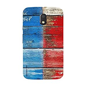 iSweven Printed _motoE3_3164 Color wood Design Multicolored Matte finish Back case cover for Motorola Moto E3