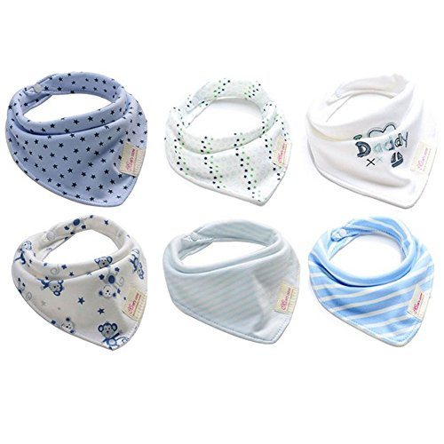 Bestbaby Baby Bandana Drool Bibs - 6 Packs Unisex Super Absorbent Cotton Modern Baby Gift Set for Boys and Girls (style2)