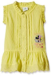Disney Baby Girls' Blouse Shirt (TC 2453_Yellow_12-18 Months)