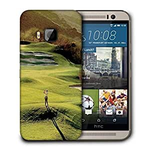 Snoogg Hitting The Ball Printed Protective Phone Back Case Cover For HTC One M9