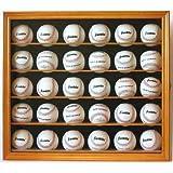 30 Baseball Display Case Wall Cabinet Holder Rack w/ 98% UV Protection- Lockable