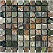 Green Rain Forest Marble in 1x1 Tumbled Mosaic Tiles