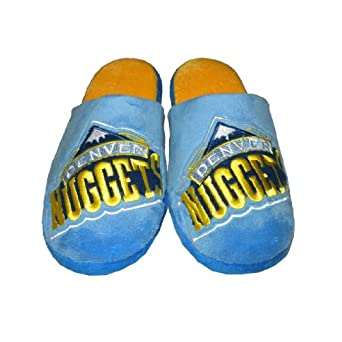 NBA Denver Nuggets Mens Lounge House Slippers with Embroidered Logo by NBA