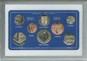 2011 Vintage GB Great Britain British Coin Birth Year Retro Gift Set (4th Birthday Present or Wedding Anniversary)