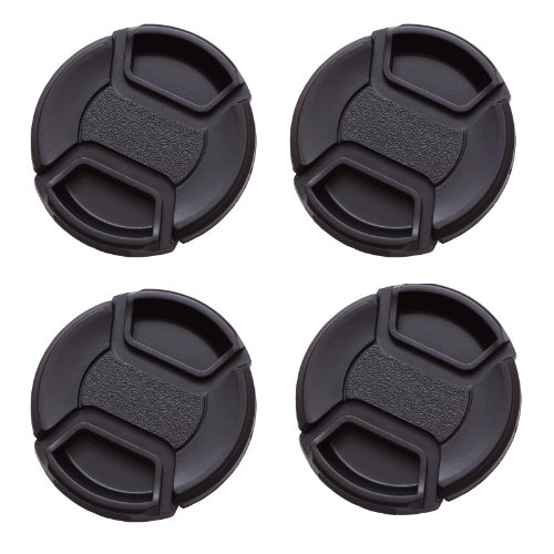 Imz Lens Cap Bundle - 4 X 55Mm Front Lens Filter Snap On Pinch Cap Protector Cover For Dslr Slr Camera Lens front-55371