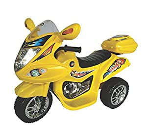 HLX NMC BATTERY OPERATED FUN BIKE YELLOW