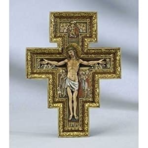 Renaissance Collection Joseph's Studio by Roman Exclusive San Damiano Cross, 10.75-Inch