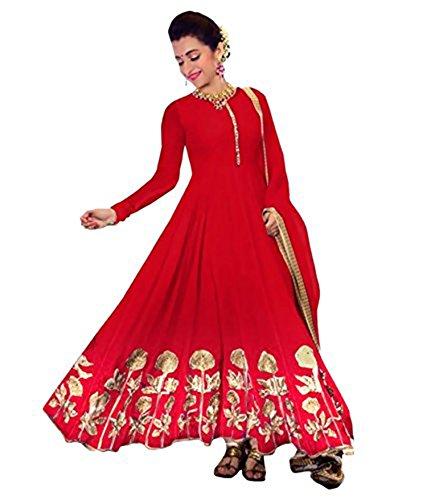 Khazanakart Women Exclusive Georgette Designer Salwar Suit Dress Materials
