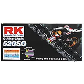 RK Racing Chain 520-SO-114 114-Links O-Ring Chain with Connecting Link