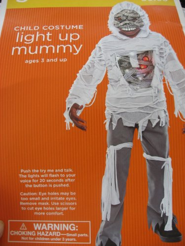 Light up Mummy Costume - Small - Ages 3 and Up
