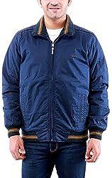 Time Option Men's Cotton Jacket (5018_Air Force Blue_42)