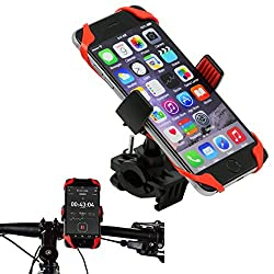 Bike Mount, Costech Universal Premium Adjustable Sizes 360 Rotation Stand Bicycle Motorcycle Handlebars Holder for Iphone, Samsung, HTC, Other 3.5-6inch Mobile Phones (BM1001-Black/Red)