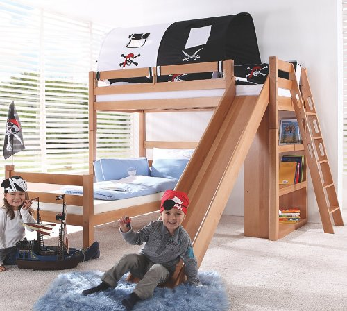 Etagenbett Set »4 DREAMS« in Buche massiv natur lackiert online kaufen
