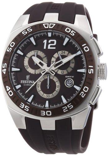 Festina F16668/3 - Reloj cronógrafo de cuarzo para hombre con correa de caucho, color marrón