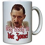 Geh doch in die Zone! Alfred Tetzlaff ein Herz und eine Seele Ekel Alfred Humor Spaß Fun Portrait Foto - Tasse Becher Kaffee #9945