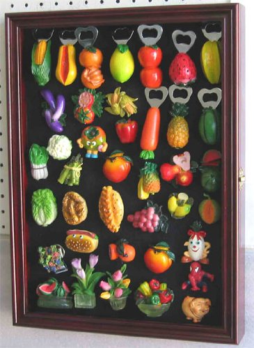 Refrigerator/Souvenir / Sports Magnets Display Case Wall Shadow Box Cabinet, Mag1-Ch front-493691